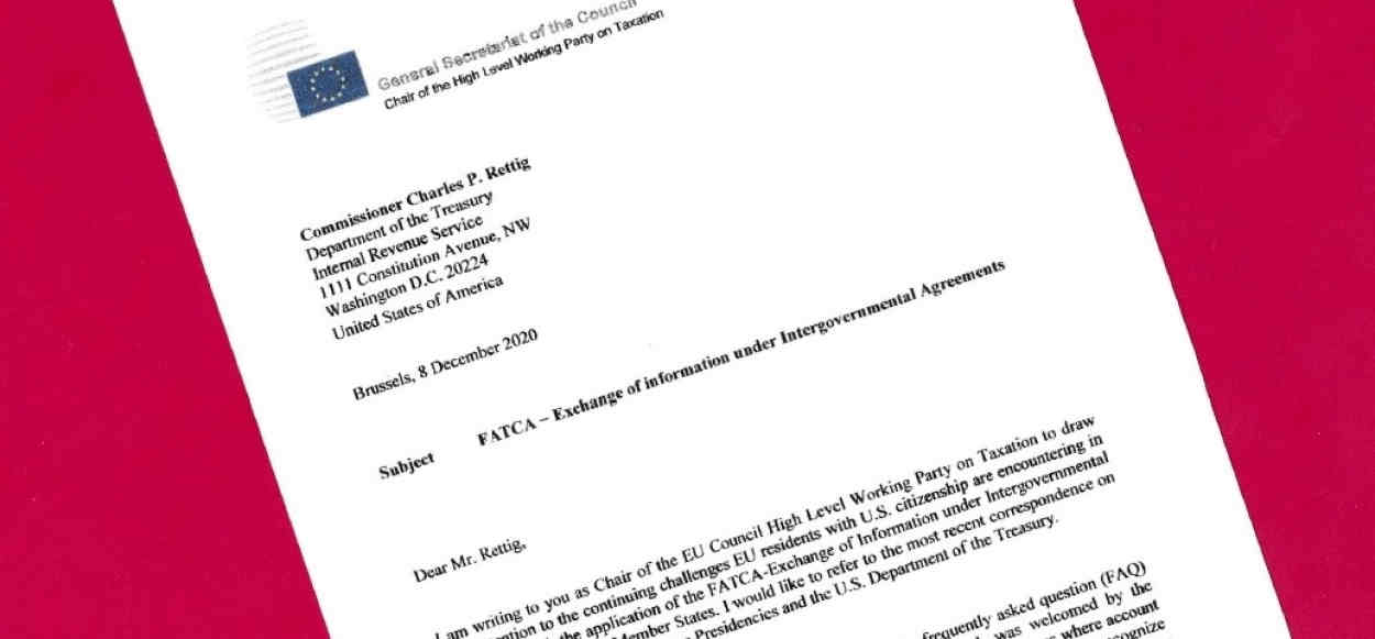 Martin Kreienbaum of Germany's letter of Dec. 8 to IRS Commissioner Rettig